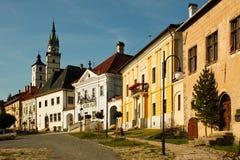 Huvudsaklig fyrkant i Kremnica Royaltyfria Foton