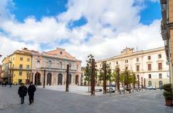 Huvudsaklig fyrkant i Potenza, Italien Royaltyfri Fotografi