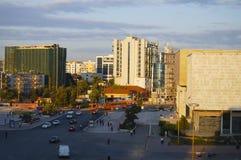 Huvudsaklig fyrkant i Tirana royaltyfri foto