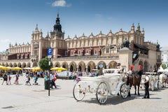 Huvudsaklig fyrkant, Krakow Arkivfoto