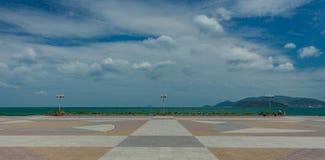 Huvudsaklig fyrkant Vietnam för Nha Trang sjösida Arkivfoton