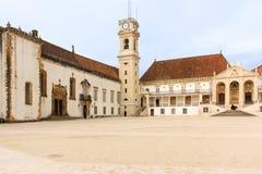 Huvudsaklig gård på universitetet Coimbra portugal Royaltyfria Bilder