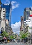 Huvudsaklig gata av Auckland Royaltyfri Bild