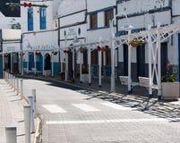 Huvudsaklig gata i den Agaete byn Royaltyfri Foto