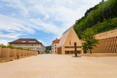 Huvudsaklig gata i Liechtenstein royaltyfri foto
