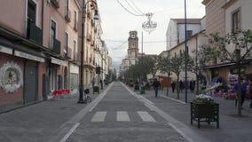 Huvudsaklig gata i Sorrento arkivfilmer