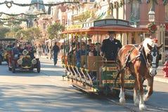 Huvudsaklig gata på Disneyland, Kalifornien Royaltyfria Bilder