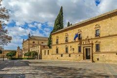 Huvudsaklig historisk fyrkant i Ubeda, Spanien royaltyfri foto