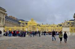 Huvudsaklig ingång av den Versailles slotten Royaltyfri Fotografi