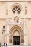 Huvudsaklig ingång av den Zagreb domkyrkan Royaltyfria Bilder