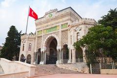 Huvudsaklig ingång av det Istanbul universitetet Royaltyfri Fotografi