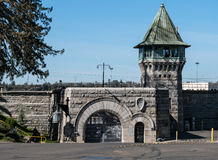 Huvudsaklig ingång, historisk Folsom delstatsfängelse Royaltyfria Bilder