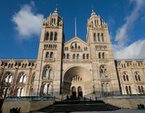 Huvudsaklig ingång och fasad av naturhistoriamuseet London Fotografering för Bildbyråer