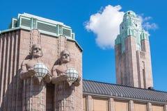 Huvudsaklig järnvägsstation Helsingfors Finland Arkivfoton