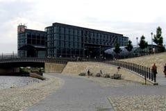 Huvudsaklig järnvägsstation i Berlin Arkivbild