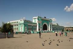 Huvudsaklig järnvägsstation i Novosibirsk, Ryssland Royaltyfri Foto