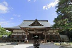 Huvudsaklig korridor av den Chuson templet, Hiraizumi royaltyfria bilder