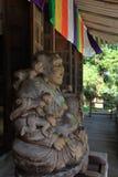 Huvudsaklig korridor av den Risshaku jien Yamadera i Yamagata arkivfoton
