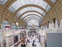 Huvudsaklig korridor av det D-`-Orsay museet arkivbild