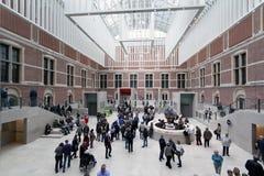 Huvudsaklig korridor av Rijksmuseumen i Amsterdam Arkivbilder