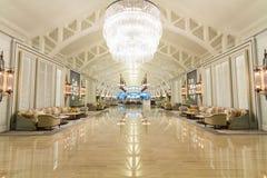 Huvudsaklig lobby för hotell arkivbilder
