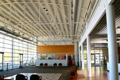 Huvudsaklig lobby inom Tunicaflodmuseet Arkivfoton