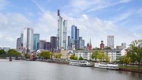 Huvudsakliga Frankfurt - förmiddag -, Tyskland. fotografering för bildbyråer