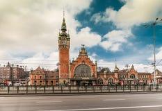 Huvudsaklig station av Gdansk Arkivbilder