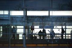 Huvudsaklig station Baden för Glass fasad Royaltyfria Foton