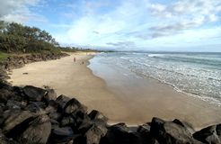 Huvudsaklig strand på Byron Bay Arkivbild