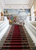 Huvudsaklig trappuppgång av akademin av vetenskaper, St Petersburg royaltyfri fotografi