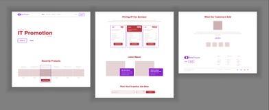 Huvudsaklig webbsidadesignvektor Websiteaffärsidé Landningmall Funktionsdugligt lag Kryptografilantgård applejacken stock illustrationer