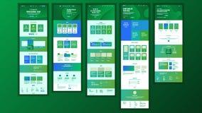 Huvudsaklig webbsidadesignvektor Websiteaffärsidé Landningmall Funktionsdugligt lag Kryptografilantgård applejacken royaltyfri illustrationer