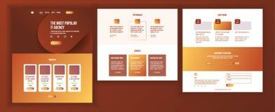 Huvudsaklig webbsidadesignvektor Websiteaffärsidé Shoppa online-landningmallen Funktionsdugligt lag Molnrum royaltyfri illustrationer