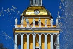 Huvudsakliga Amiralitetet i St Petersburg, Ryssland Royaltyfri Foto