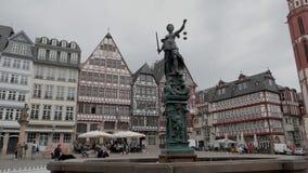 Huvudsakliga Frankfurt - f.m. -! Härlig europeisk stad! stock video