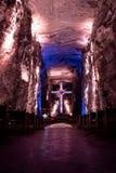 Huvudsakliga Hall av den salta domkyrkan för tunnelbana - Zipaquira, Colombia Arkivfoto