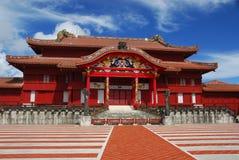 Huvudsakliga Hall på den Shuri slotten Fotografering för Bildbyråer
