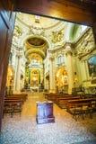 Huvudsakligt altare av barockkyrkan Santa Maria della Vita Royaltyfri Fotografi