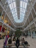 Huvudsakligt galleri, Scotlands nationellt museum, Edinburg arkivbilder