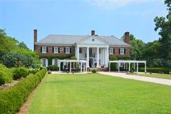 Huvudsakligt hus i Boone Hall Plantation arkivfoto