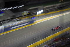 Huvudsakligt raceday för Singapore formel 1 Arkivfoto