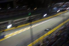 Huvudsakligt raceday för Singapore formel 1 Fotografering för Bildbyråer