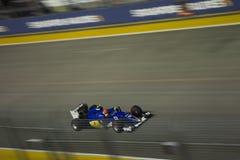 Huvudsakligt raceday för Singapore formel 1 Arkivbilder