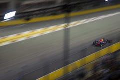 Huvudsakligt raceday för Singapore formel 1 Royaltyfri Fotografi
