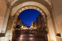 Huvudsakligt stadshus i Gdansk, Polen Arkivbild