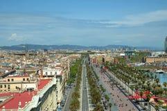 Huvudstad av Catalonia Barcelona Royaltyfri Fotografi
