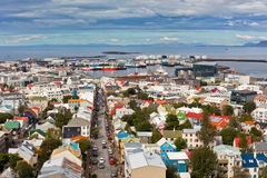 Huvudstad av Island, Reykjavik, sikt Royaltyfri Foto