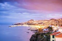 Huvudstad av madeiran, Funchal, Portugal Arkivfoto