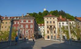 Huvudstad av Slovenien, Ljubljana Central Europe Royaltyfria Bilder